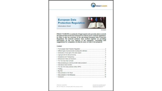 WP_European Data Protection Regulation_Privacy Europe